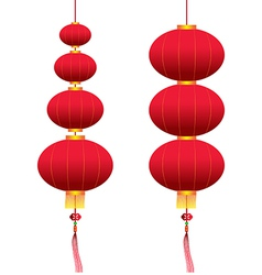 chinese hanging lanterns vector image