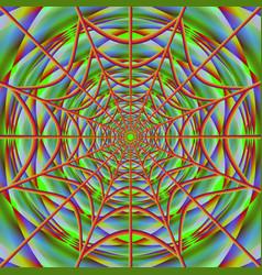Cobweb on bright backdrop vector