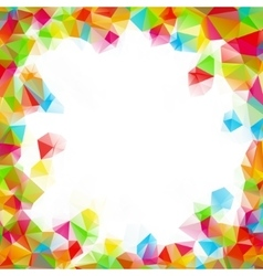 Colorful square polygon background or frame vector
