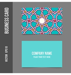 Corporate identity - business cards for company vector