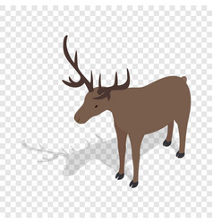 Deer isometric icon vector