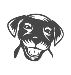 doggy face vector image