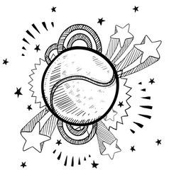 doodle pop tennis vector image vector image