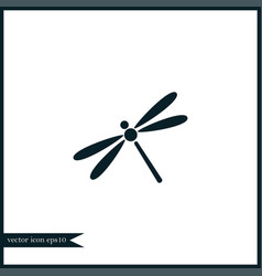 Dragonfly icon simple vector