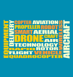 Drone relative word cloud vector