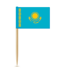 flag of kazakhstan flag toothpick 10eps vector image