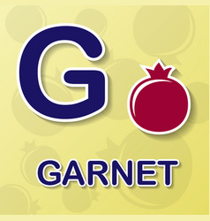 Garnet alphabet background vector