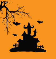House hallowen vector