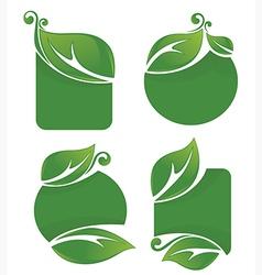 leaf frames vector image vector image