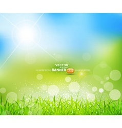 natural green background vector image vector image
