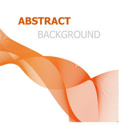 orange line wave abstract background vector image