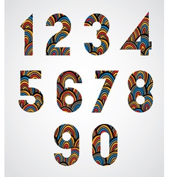 Pattern ornamental colorful abstract numbers vector
