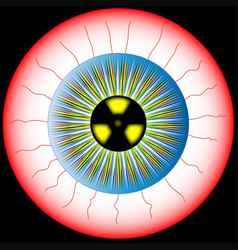 Radioactive eye vector