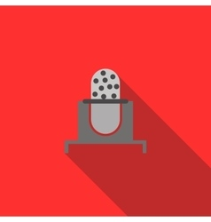 Retro microphone icon in flat style vector image vector image