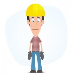 sad builder vector image vector image