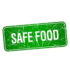 Safe food green square grunge textured isolated vector