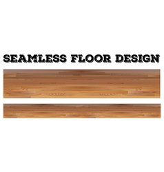 Seamless wooden floor design vector