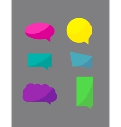 Set of chat icons speech bubbles vector image
