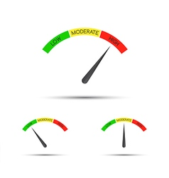 Set of simple tachometer with descriptions vector