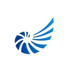 Shell abstract line logo vector
