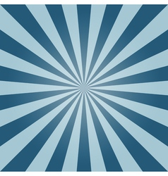 Sun burst background blue sky vintage vector