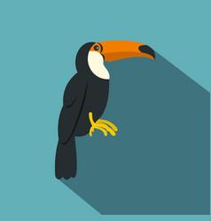Toucan ramphastos vitellinus icon flat style vector