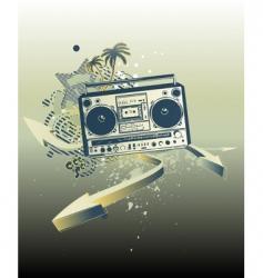 Urban music background vector