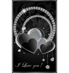 valentine illustration with the diamonds vector image vector image