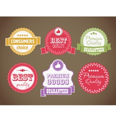 vintage discount labels set vector image vector image