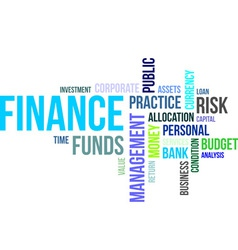 Word cloud finance vector