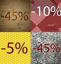10 5 45 icon set of percent discount on abstract vector
