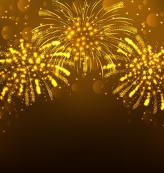 Festive firework bursting holiday background vector