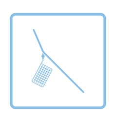 Icon of fishing feeder net vector