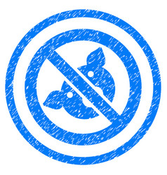 Banned pig rounded grainy icon vector