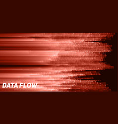 abstract big data visualization red vector image