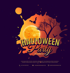Halloween party background design vector