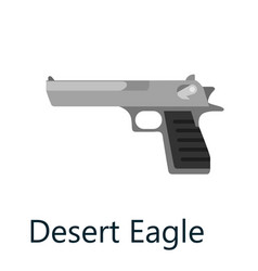 Desert eagle pistol gun military handgun weapon vector