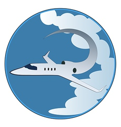 The emblem of the plane vector image