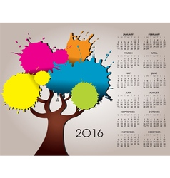 2016 splat tree calendar vector