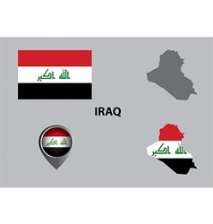 Map of iraq and symbol vector