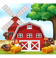 Farmhouse vector