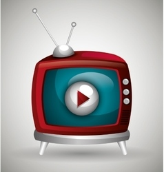Tv live stream vector