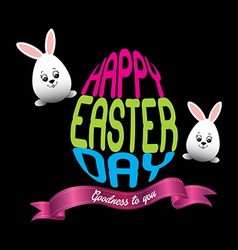 Happy easter day vector