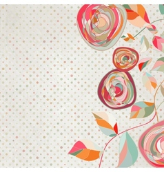 Vintage floral copy space background vector