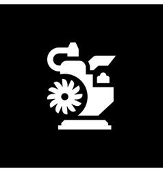 Modern motor icon vector