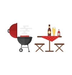 Kettle barbecue grill vector image