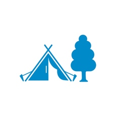 Stylized icon of tourist tent vector