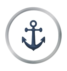 Anchor icon in cartoon style isolated on white vector image vector image