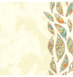 Background with tribal feathers vector image