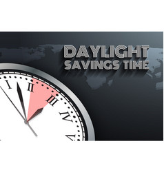 Banner for daylight saving time vector